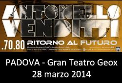 tour Antonello Venditti 2014 Padova