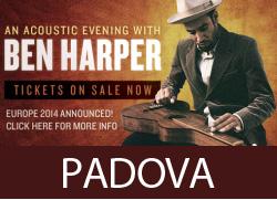 Concerto Ben Harper Padova 2014