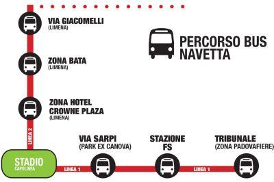 Bus Navetta Padova concerto Ligabue 2014