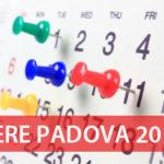 Calendario Fiere Padova 2017 elenco lista