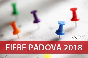 Calendario Fiere Padova 2018 elenco lista