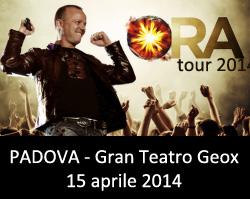 Gigi D'Alessio Padova 2014 Ora Tour