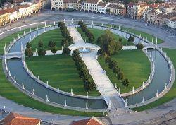 Prato della Valle Padova, vista aerea